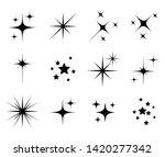 set of different beautiful star ... | Shutterstock .eps vector #1420277342