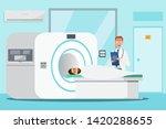 doctor standing and man lying... | Shutterstock .eps vector #1420288655