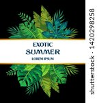 bright summer tropical leaves... | Shutterstock .eps vector #1420298258