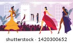 fashion week event with... | Shutterstock .eps vector #1420300652