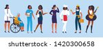 young diverse international and ...   Shutterstock .eps vector #1420300658