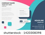 landing page or brochure design ... | Shutterstock . vector #1420308398