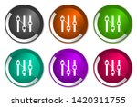 slider vector icons. chrome...