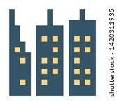 skyscraper icon. flat... | Shutterstock .eps vector #1420311935
