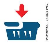 shopping basket icon. flat... | Shutterstock .eps vector #1420311962