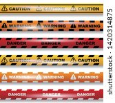 set of seamless caution tapes... | Shutterstock .eps vector #1420314875