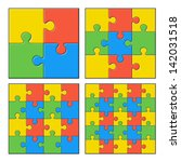 puzzles | Shutterstock .eps vector #142031518