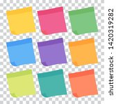set of 9 colorful sheets of... | Shutterstock .eps vector #1420319282