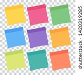 set of 9 colorful sheets of... | Shutterstock .eps vector #1420319285
