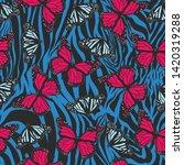 seamless vector multicolor... | Shutterstock .eps vector #1420319288