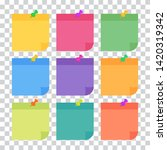 set of 9 colorful sheets of... | Shutterstock .eps vector #1420319342