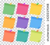 set of 9 colorful sheets of... | Shutterstock .eps vector #1420319348
