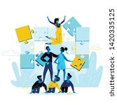 office people work together... | Shutterstock .eps vector #1420335125