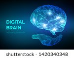 brain. digital brain in hand....