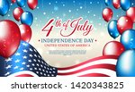 banner 4th of july usa... | Shutterstock .eps vector #1420343825