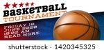 basketball modern sports poster ... | Shutterstock .eps vector #1420345325