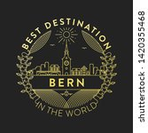 vector bern city badge  linear... | Shutterstock .eps vector #1420355468