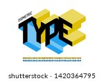 isometric 3d font design  three ... | Shutterstock .eps vector #1420364795