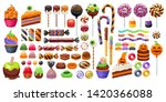 halloween sweet treats set.... | Shutterstock .eps vector #1420366088