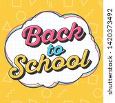 back to school sale template... | Shutterstock .eps vector #1420373492