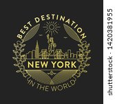 vector new york city badge ... | Shutterstock .eps vector #1420381955