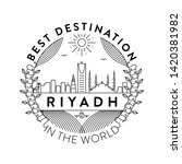 vector riyadh city badge ... | Shutterstock .eps vector #1420381982