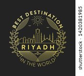 vector riyadh city badge ... | Shutterstock .eps vector #1420381985
