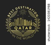 vector qatar city badge  linear ... | Shutterstock .eps vector #1420381988