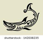 shark decorative symbol. shark... | Shutterstock .eps vector #142038235