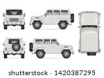 suv car vector mockup for... | Shutterstock .eps vector #1420387295