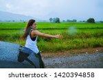 asian women travel relax... | Shutterstock . vector #1420394858