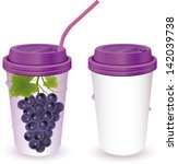 grapes juice vector easy to use ... | Shutterstock .eps vector #142039738