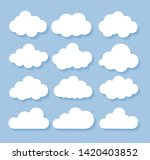 clouds icon  vector... | Shutterstock .eps vector #1420403852