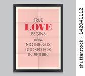 love quote poster antoine de... | Shutterstock .eps vector #142041112