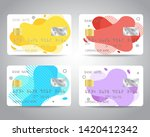 credit cards vector set with... | Shutterstock .eps vector #1420412342
