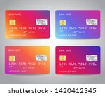 Credit Cards Vector Set With...