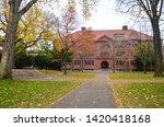 Stock photo the harvard university building in cambridge massachusetts usa 1420418168