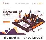 modern flat design isometric... | Shutterstock .eps vector #1420420085