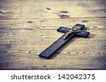 Beautiful Old Cross With Jesus...