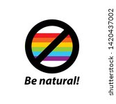 say no lgbt. sign protest for... | Shutterstock .eps vector #1420437002
