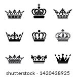 collection of crown silhouette... | Shutterstock .eps vector #1420438925