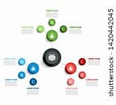 infographic design template...   Shutterstock .eps vector #1420442045