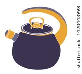 white background  a kettle with ...   Shutterstock .eps vector #1420443998