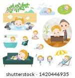 a set of boy caucasian about... | Shutterstock .eps vector #1420446935