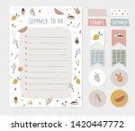 summer wish  to do list ...   Shutterstock .eps vector #1420447772