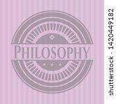 philosophy retro style pink...   Shutterstock .eps vector #1420449182