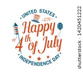 vintage 4th of july design in... | Shutterstock .eps vector #1420451222