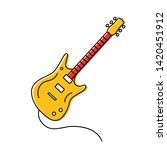 linear icon electric guitar... | Shutterstock .eps vector #1420451912