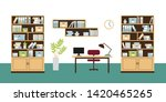 office interior with book... | Shutterstock .eps vector #1420465265