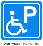 disabled parking symbol sign ...   Shutterstock .eps vector #1420470158
